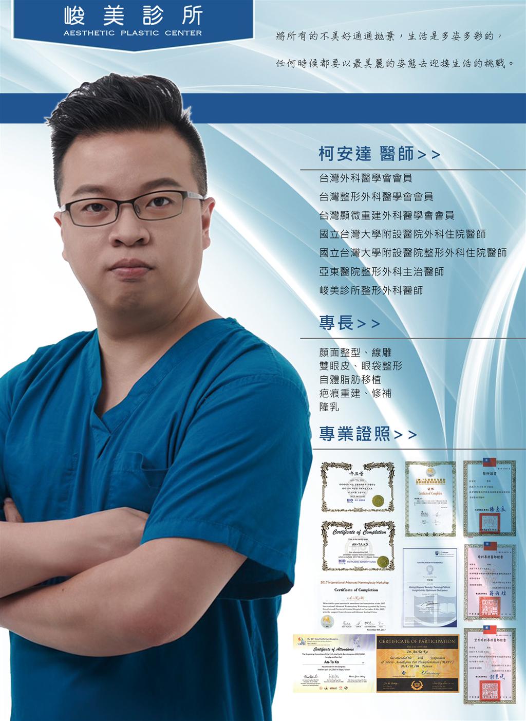 柯安達醫師|專業眼部手術權威|台中峻美診所